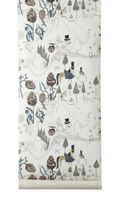 Mountain Friends Wallpaper by Ferm Living